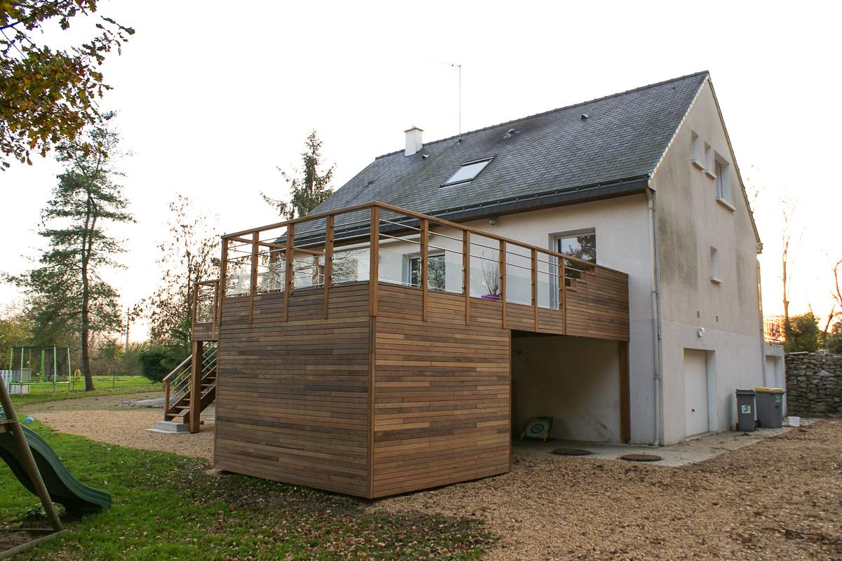Extension terrasse et spa montreuil sur le loir 49 desarchitecture - Extension sur terrasse ...