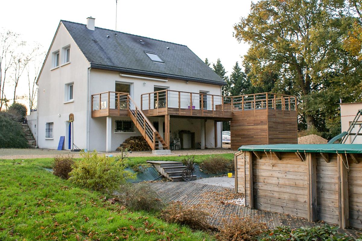 Extension terrasse et spa montreuil sur le loir 49 for Extension sur terrasse